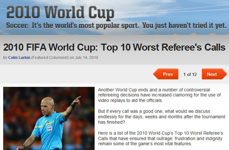 Bleacher Report: 2010 World Cup